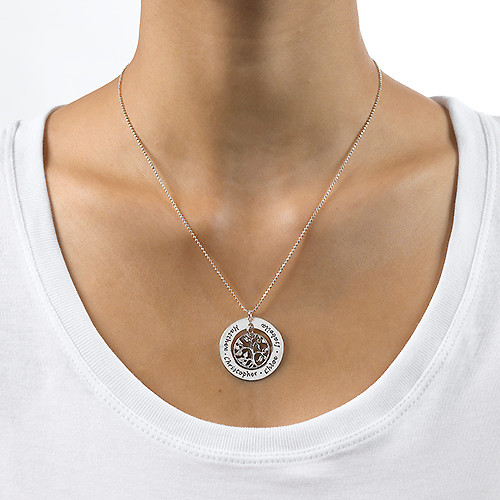 Silver Family Tree Necklace - 1