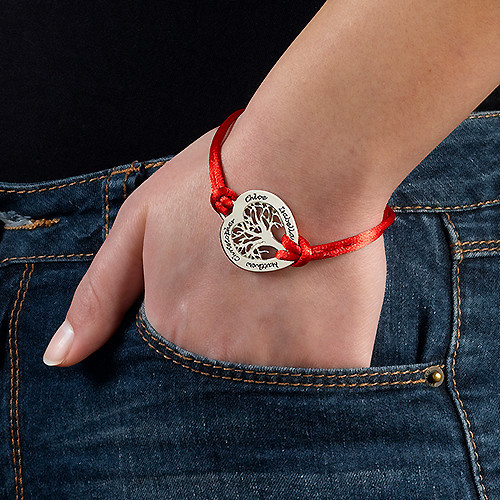 Sterling Silver Heart Family Tree Bracelet - 2