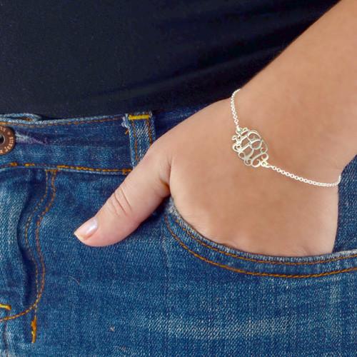 Sterling Silver Initials Bracelet / Anklet - 2