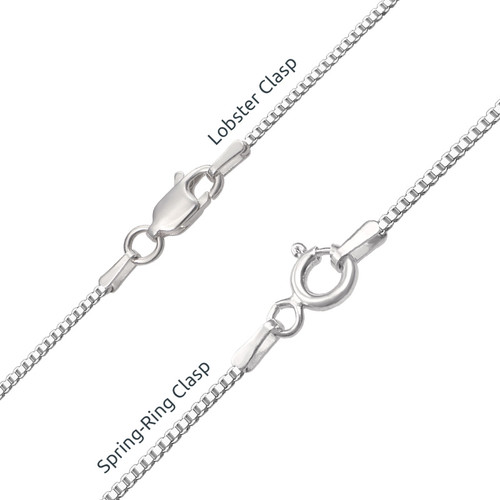 Sterling Silver Name Necklace with Colour Charm - 4