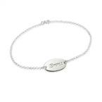 Sterling Silver Personalised Baby Bracelets