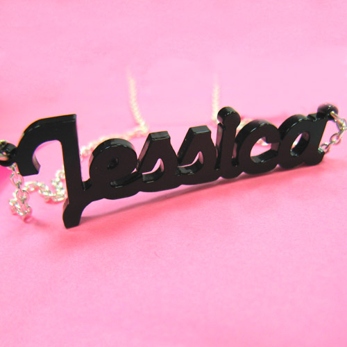 Stylish Colour Name Necklace - 1