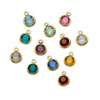 Swarovski Birthstones with Gold Plated Lining