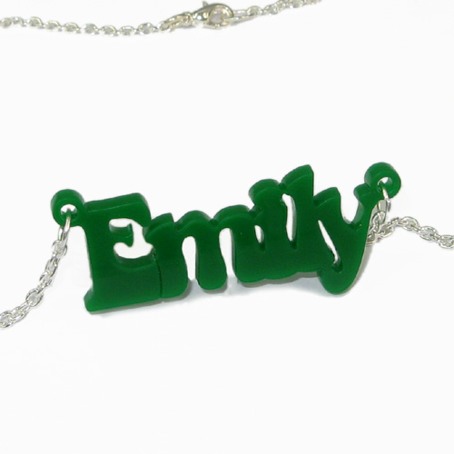 That 70's show Style Colour Name Necklace - 2