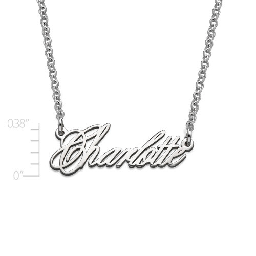 Tiny Name Necklace - Extra Strength Silver