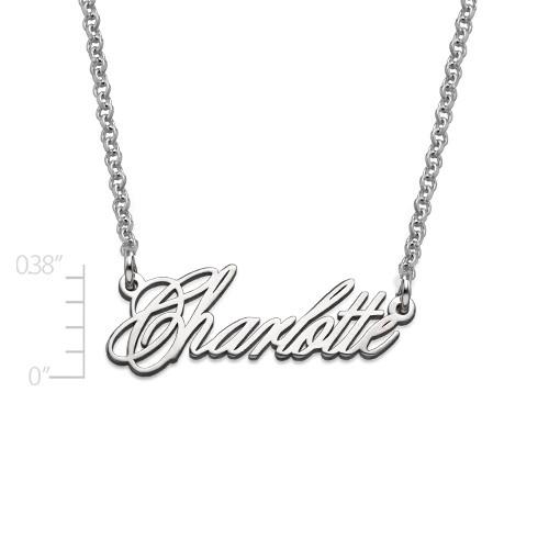 Tiny Name Necklace - Extra Strength Silver