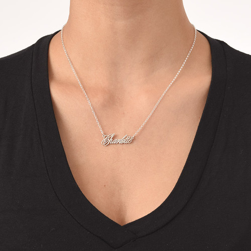 Tiny Name Necklace - Extra Strength Silver - 2