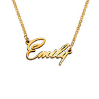 Tiny Name Necklace with 18ct Gold Plating - Extra Strength