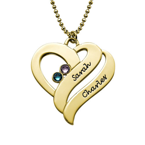 Two Hearts Forever One Necklace - 18ct Gold Plated