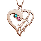 Two Hearts Forever One Necklace - Rose Gold Plated
