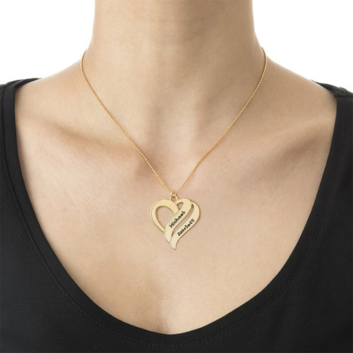 Two Hearts Forever One Necklace in 18ct Gold Plating - 1