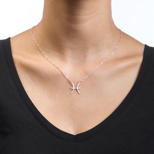 Zodiac Necklace in Silver - 1