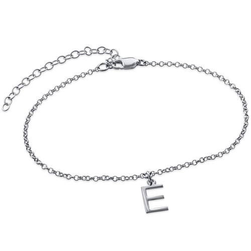 Ankle Bracelet With Name In Silver Mynamenecklace Uk