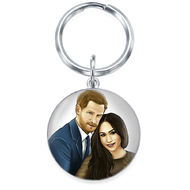 Royal Wedding Engraved Photo Keyring