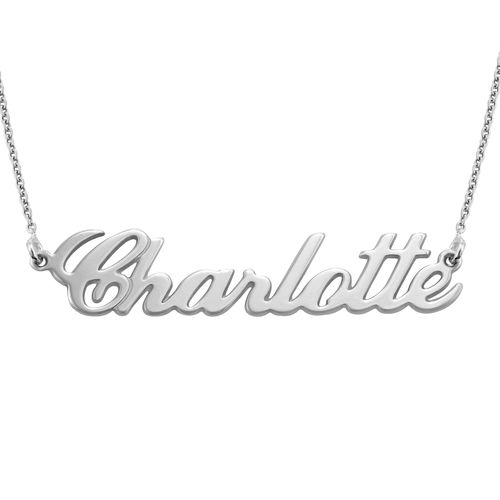 Personalised Classic Name Necklace in Silver - 2