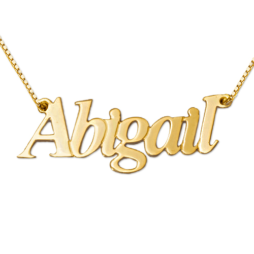 Personalised 14ct Gold Name Necklace