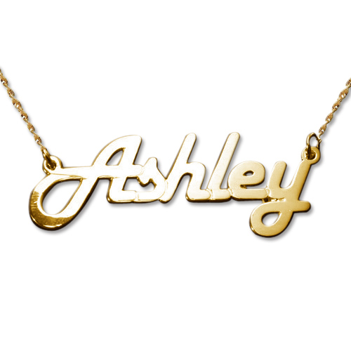 Stylish 14ct Yellow Gold Name Necklace