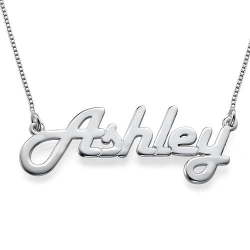 Stylish Silver Name Necklace