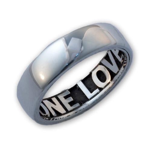 Sterling Silver Comfort Fit Inside Engraved Ring