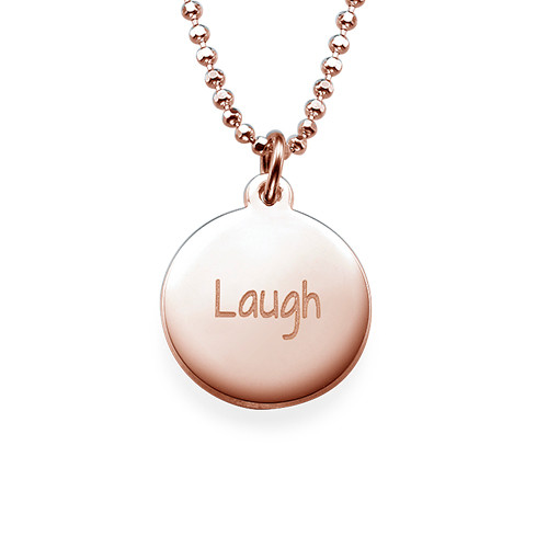 """Inspirational Jewellery - """"Laugh"""" Necklace RGP"""
