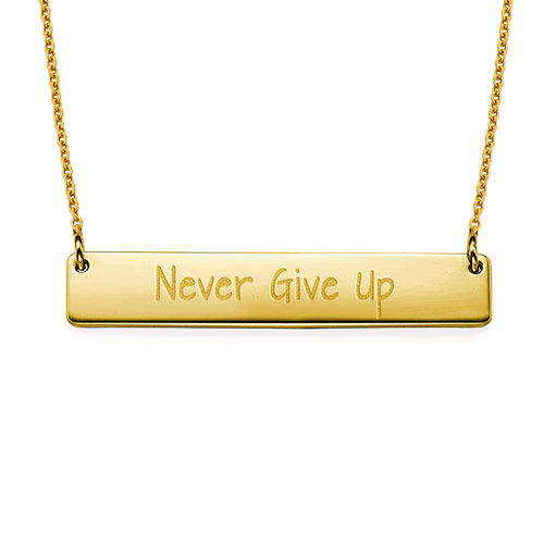 Never Give Up Inspirational Necklace GP