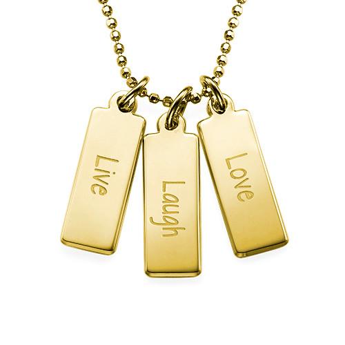 "Inspirational Jewellery - ""Live Laugh Love"" Necklace GP"