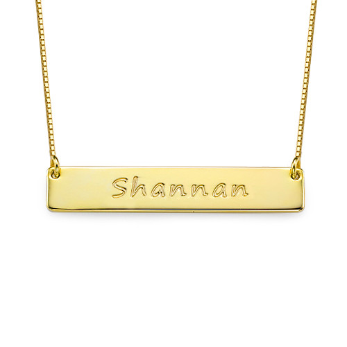 Layer it Up: Engraved Bar Necklace & Initial Necklace - 1