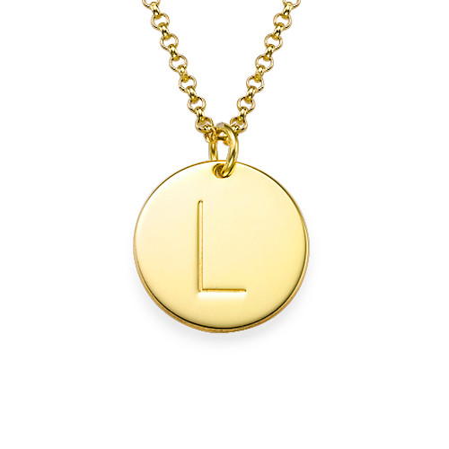 Layer it Up: Engraved Bar Necklace & Initial Necklace - 2