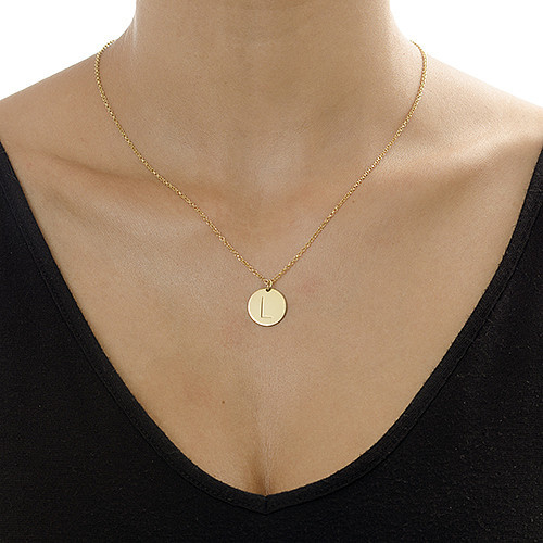 Layer it Up: Engraved Bar Necklace & Initial Necklace - 4