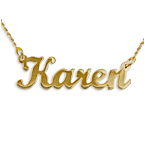 14ct Gold Script Style Name Necklace