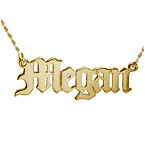 14ct Gold Old English Style Name Necklace