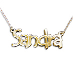 Tempus Style 14ct Gold Name Necklace