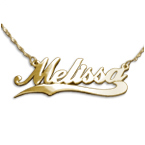 Personalised 14ct Gold Wave Name Necklace