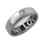 Sterling Silver Comfort Fit Inside Engraved Ring