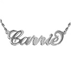 Double Thick 14ct White Gold Name Necklace