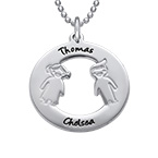 Necklace with Children's Names in Silver
