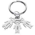 Personalised Keyring with Children Charms