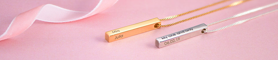 Personalised Bar Necklace Collection