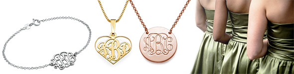 customised Bridesmaid jewellery and More: Five Monogrammed Gift Ideas You'll Love