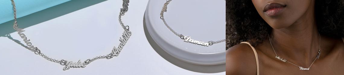 Silver Name Necklaces