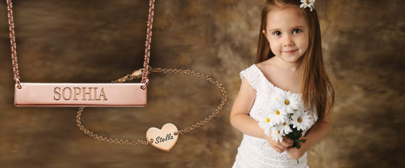 Personalised Jewellery for Flower Girls
