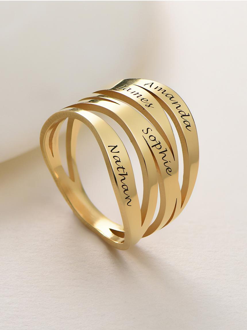 personalised rings title